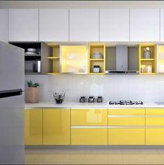 Kitchen Design Gallery, Kitchen Tiles Design, Modern Kitchen Design, Interior Design Kitchen, Kitchen Cupboard Colours, Kitchen Cabinets Color Combination, Kitchen Cupboard Designs, Kitchen Modular, Modern Kitchen Cabinets