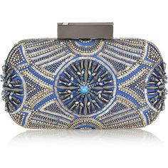 Matthew Williamson Embellished satin clutch ($1,115) ❤ liked on Polyvore