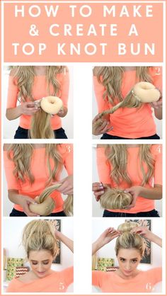 Best Way - Top Knot Bun with Hair Extensions