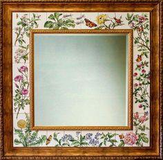Купить или заказать Роспись плитки Роспись зеркала Зеркало Флора в интернет-магазине на Ярмарке Мастеров. Роспись плитки. Роспись керамики. Авторская работа. Создано по мотивам ботанических иллюстраций, выбранными моей заказчицей. Все про зеркало , изготовленное в моей мастерской : +++++++++++++++++++++++++++++++++++++++++ - АВТОРСКАЯ РАБОТА ! -Надглазурная роспись на керамической плитке. -Обжиг при 800С в муфельной печи. Рисунок никогда не сотрется, ГАРАНТИРУЮ.