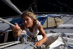 Liz Clark for 10 years of solo sailing in search of surf, simplicity and self-reliance. Read the inteview. Photo: Jeff Johnson