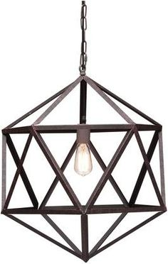 Zuo Amethyst Ceiling Lamp, Small Rust