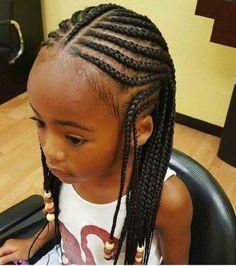 Little Black Girl's Hairstyles - Cornrow Little Girl Braids - Easy and Cute Litt. Black Kids Hairstyles, Black Girl Braided Hairstyles, Natural Hairstyles For Kids, Kids Braided Hairstyles, Baby Girl Hairstyles, Natural Hair Styles, Hairstyles Pictures, Toddler Hairstyles, School Hairstyles