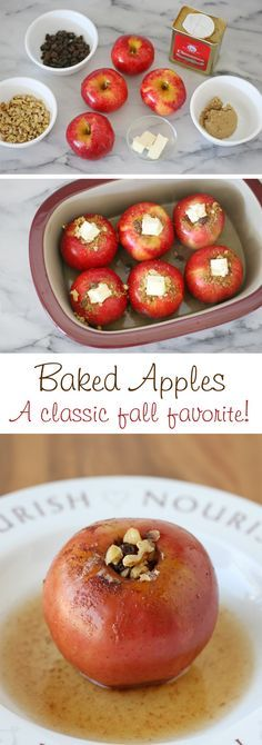 Classic and delicious baked apples recipe - Perfect for fall!
