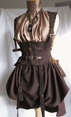 Steampunk corset and skirt.  I like the silky blouse