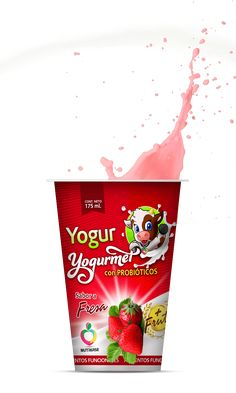 Yogurt, Strawberry Fruit