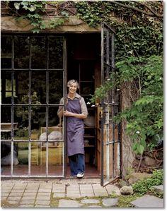 Ideas For Metal French Door Steel Windows, Steel Windows, Steel Doors, Windows And Doors, Casa Patio, Ceramic Studio, Pottery Studio, Steel Frame, Sunroom, Glass Door