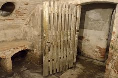 Basement work area in the Old Workhouse at Southwell, Nottinghamshire