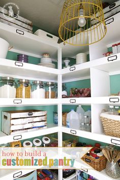 an easy pantry makeover and how to build your own custom shelves