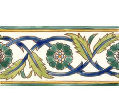 Beltile Palmyre Green Border - - BelTile Tile and Stone including Hexagon Tile and Subway Tile
