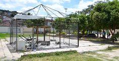 Jacobina - Incêndio destrói ponto de coleta seletiva do Recicla Jacobina; veja o vídeo