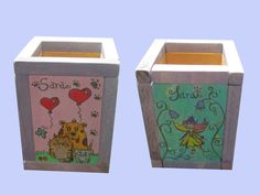 Portalápices Infantil Canning, Geek Crafts, Drawers, Hand Made, Wood, Home Canning, Conservation