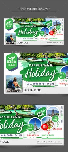 Travel Facebook Cover Template PSD