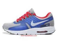 uk availability 18b5e 64146 Nike Air Max Zero Bleu Gris Blanche Chaussures Femme Enfant Pas Cher -  1610190336 -
