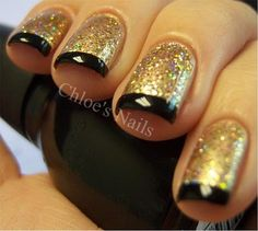 Amazing nails: glittery French par-tay mani