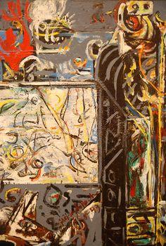 Jackson Pollock, Guardians of the Secret - (detail)