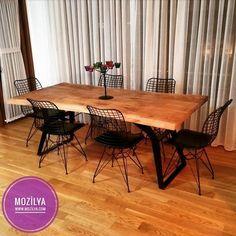Doğal Ahşap Masif Masa, Yemek Masası, Kütük Masa, Ağaç Masa, Doğal Ahşap Masa wood table