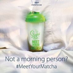 Drinking a cup of #matcha #greentea gives a longer lasting and more steady energy boost than a cup of coffee. How will you #meetyourmatcha? http://www.steepedtea.com