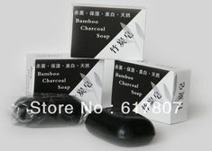 5PCS/LOT   Bamboo Charcoal Soap  Whitening Skin Care Soap