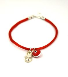 18 CM Red String Charm Bracelet for Women with Baby Shoe and Evil Eye Good Luck Amulet -- Read more reviews of the product by visiting the link on the image. (This is an affiliate link) #Bracelets
