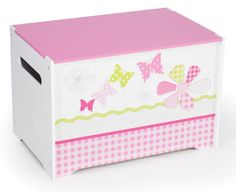 Girls Toy Box - Butterfly at Children's Rooms