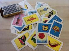 """1 Pack of Loteria Cards by vivalapress on Etsy, $5.00- make favor boxes - glue to match boxes and glitter to """"frame"""" - fill with candy"""