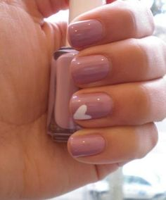 Cute nail art for Valentines - subtle enough for work but still totally adorable!
