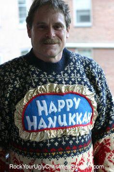 Ugly Hanukkah sweaters!