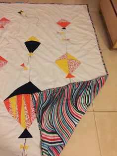 knits, purls, quilts and hooks: Supriya's quilt - Kites