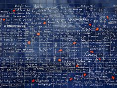 """Le Mur des """"Je t'aime"""", Montmartre, Paris by just_jeanette, via Flickr"""