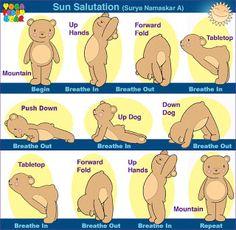 Yoga Teddy Bear The Magical Sun Salutation (Surya Namaskar A)