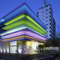 Shimura Branch of the Sugamo Shinkin Bank in Tokyo, Japan. night