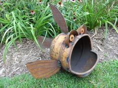 Another Wonderful Piece Of Recycled Metal Art.