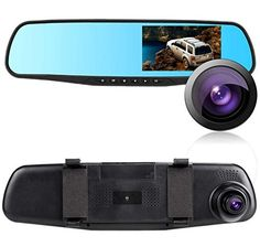 2016 New Tachograph HD 43 LCD Dual Lens Video Dash Cam Recorder Car Camera DVR 3 In 1 Rearview Mirror Front Car Dvrs Rear view Camera 1080P Rearview mirror with 16GB TF Card  -- Continue to the product at the affiliate link Amazon.com.
