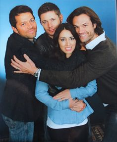 ChiCon 2015 J2M photo op Misha Collins Jensen Ackles Jared Padalecki photo op. Most nerve wracking but awesome moment ever!!