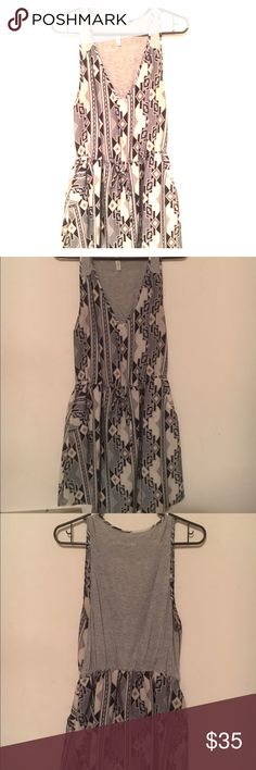 Tribal Print dress Really cute, accentuates the waist. Gray, white and black. peppermint Dresses Mini