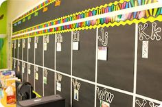 Cute word wall! Love all the colors