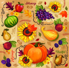 Harvest Collage by Gina Linn for @blankfabrics   #sunflower  #harvest #fall #autumn #pumpkin #nature #quilt #quilts #quilting #sew #sewing #craft #crafting #diy #fabric #crafts #patchwork #quilter #stitch #cotton #decor #homedec #apparel #fashion #creativity #creative