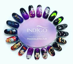 Halloween Inspiration by Indigo Educator Magdalena Żuk, Wrocław #nails #nail #indigo #halloween #scary #nailart #nailicon
