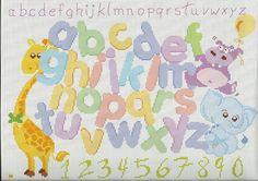 alfabeto punto croce
