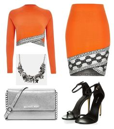 """""""MK"""" by gabrielle-dixon ❤ liked on Polyvore featuring MICHAEL Michael Kors, River Island and Coach"""