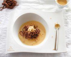 Mi Gran Diversión: Espaguetis de chocolate con crema de Jijona