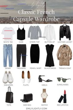 The Classic French Capsule Wardrobe The Classic French Capsule Wardrobe - Emily Lightly // minimalism, simple style, slow fashion, minimalist outfit ideas