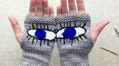 """How to Knit 'Evil Eye Gloves,' the Pussyhat of the March For Our Lives Rally- She's asking crafty supporters to knit what she's calling """"Evil Eye Gloves""""—pairs of fingerless gloves with eyes on the palms—and donate them to those marching. Her goal is to get at least 438 pairs, one to represent each person killed or injured at school shootings from 2014 to now. With all the hands outstretched to the sky, she hopes to """"make a statement that enough is enough and gun violence has to stop."""""""