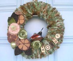 Make Spring Yarn Wreaths ~ http://steamykitchen.com