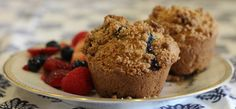 These gluten free blueberry muffins with streusel topping are perfect for a lazy weekend morning breakfast, or in the afternoon with a cup of tea!
