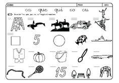 Fichas infantiles para aprender a leer y aprender a escribir con la letra C. Dibujos Lectoescritura con letra C para colorear. Lectoescritura_CyQ_10