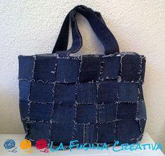 La Fusilla Creativa: Vedo, elaboro e realizzo...borsa di jeans! Diy Purse, Messenger Bag, Satchel, Reusable Tote Bags, Shoulder Bag, Purses, Handmade, Crafts, Fusilli