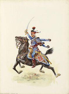 1791 - Capitaine commandant le 4e escadron au 1er Hussard (4) - Régiment de Berchény hussards — Wikipédia