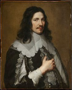 Portrait of a man, Jacob van Oost the Younger, oil on canvas, date not given (poss. 1650s based on clothing).